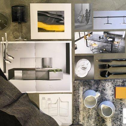 Virtuves un ēdamzonas interjera dizaina koncepts, 2019