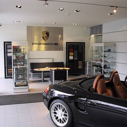 PORSCHE showroom in Riga, 2001